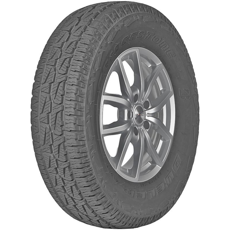 opona samochodowa całoroczna Bridgestone DUELER AT 001 w rozmiarze 215/65R16 z indeksem nośności 98 i prędkości T - widok z boku
